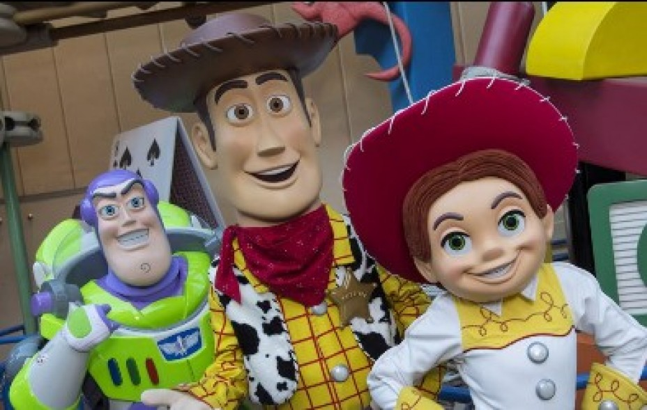 Woody, Buzz, and Jessie